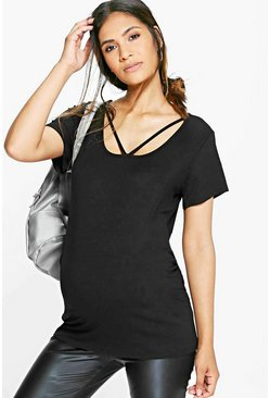 Maternity Ava Strappy Basic Oversized Tee