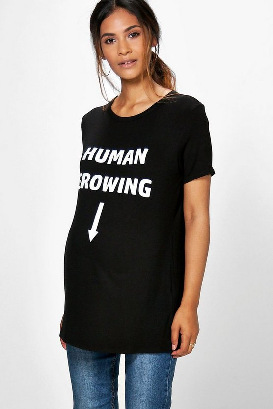 Maternity Lizzie Human Growing Printed T-Shirt