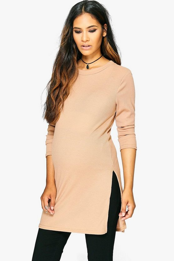 Maternity Mia Side Split Top