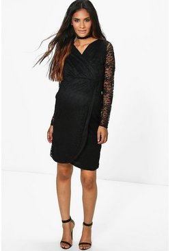 Maternity Natalie Lace Wrap Dress