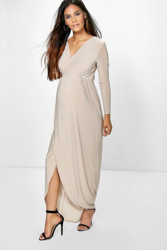 Maternity Wrap Front Maxi Dress