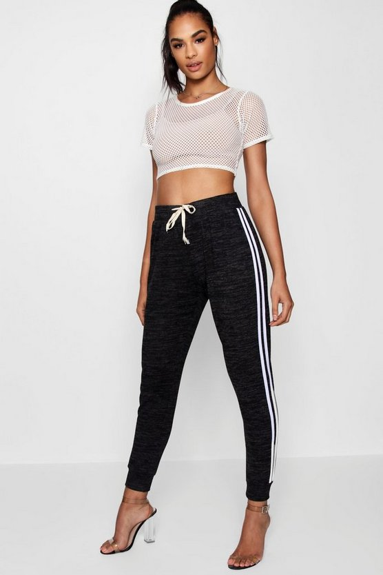 Katie Knitted Sports Stripe Jogger