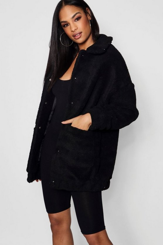 Kiera Teddy Faux Fur Coat