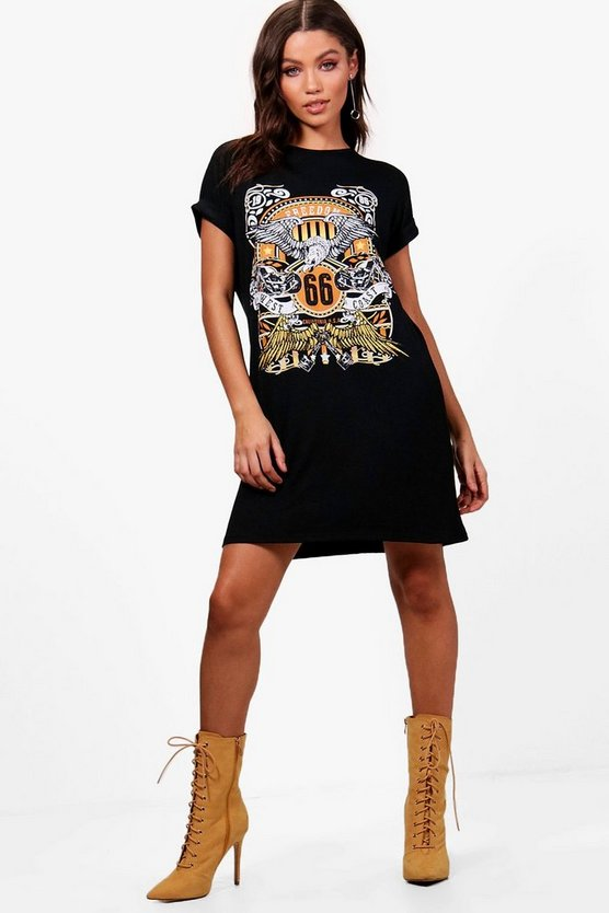 Claire Printed T-Shirt Dress