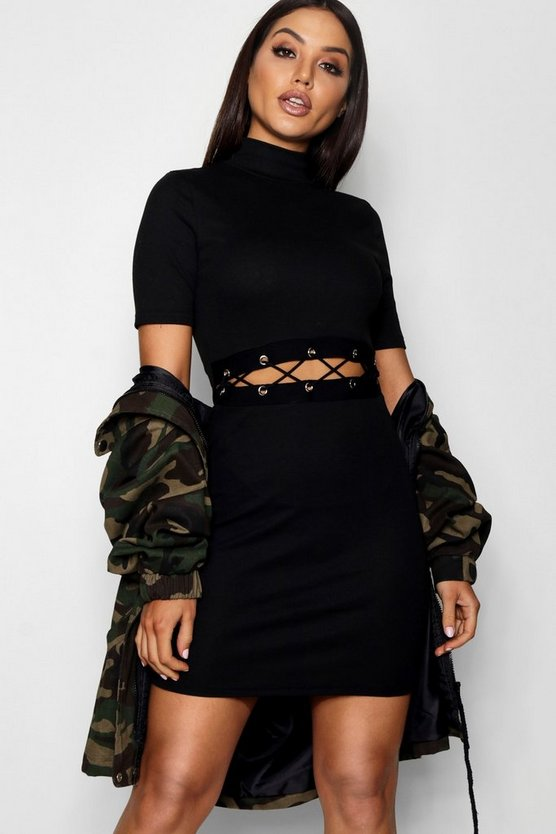 Polly Cut Out Eyeley Dress