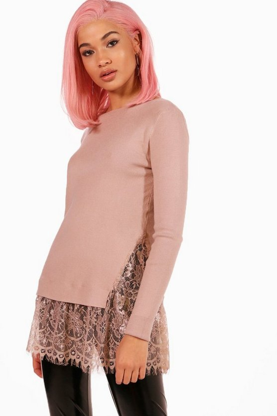 Harriet Lace Hem Jumper
