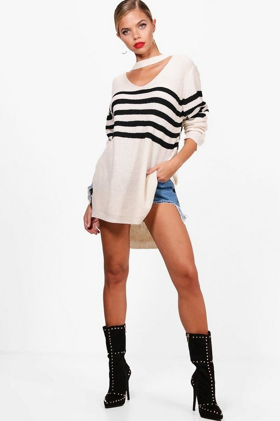 Serena Oversized Striped Jumper