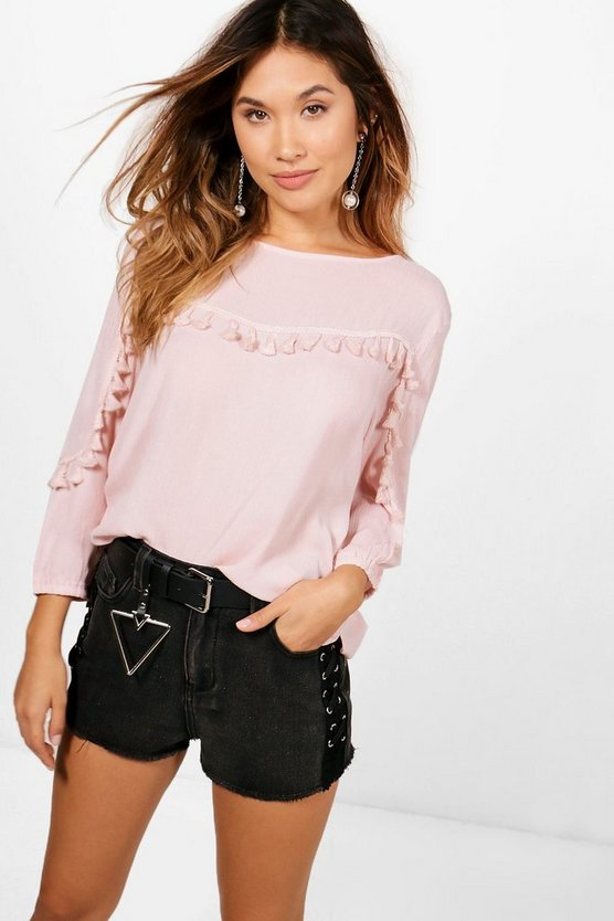 Eliza Tassle Trim Top