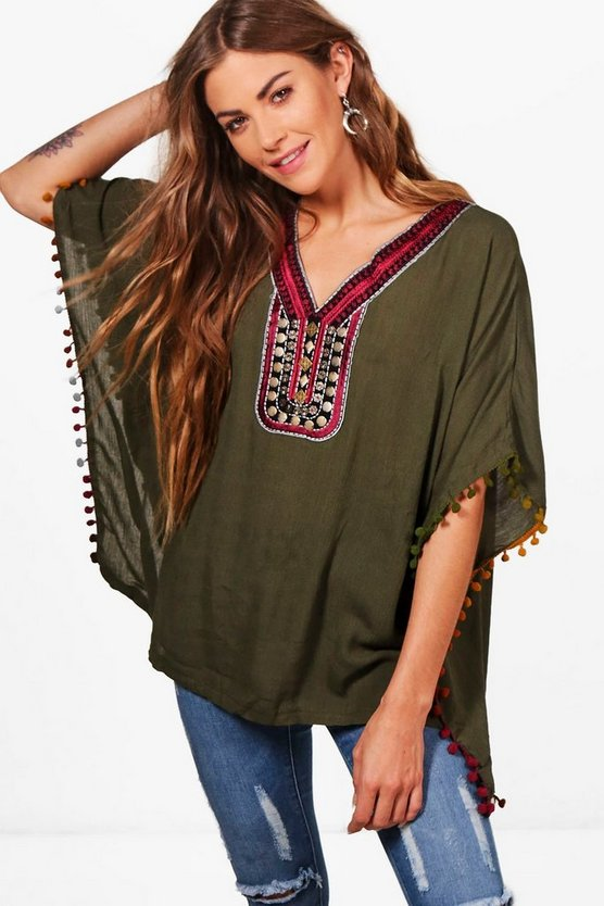 Sara Embroidered Smock Top