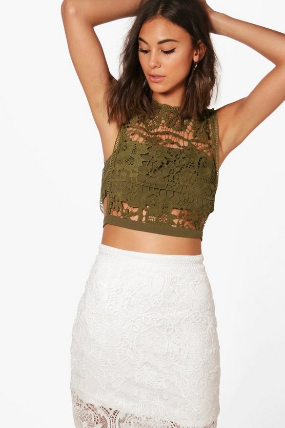 Florence Lace Crop Top