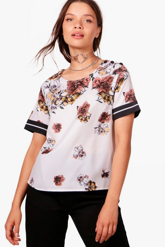 Holly Floral Crop Shirt