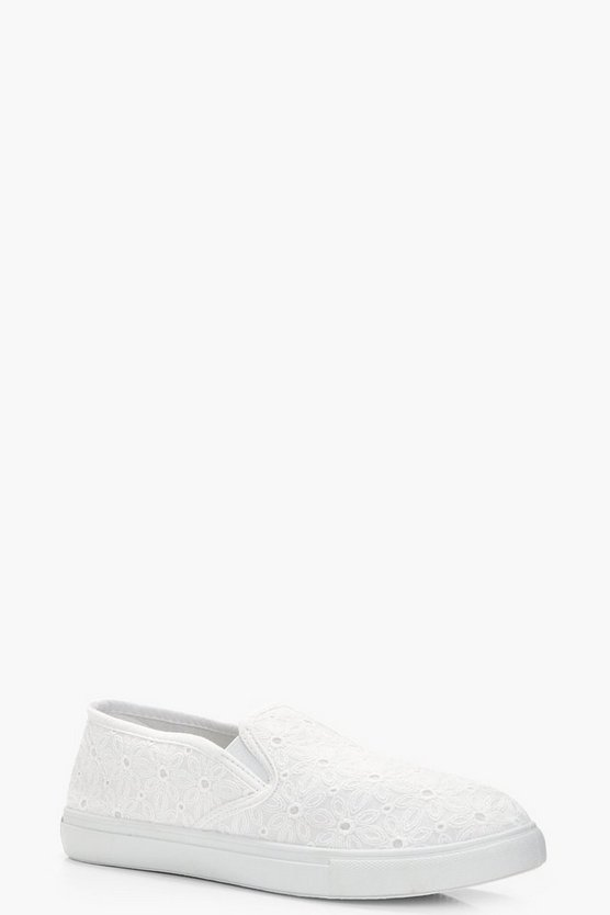 Olivia Punch Detail Canvas Skater
