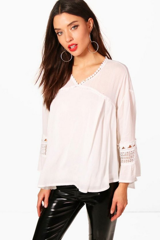 Daisy Lace Panel Blouse