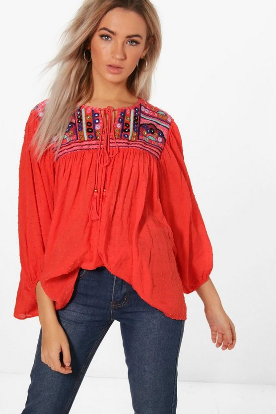 Emily Embellished Smock Top