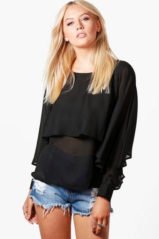 Sara Woven Double Layer Top