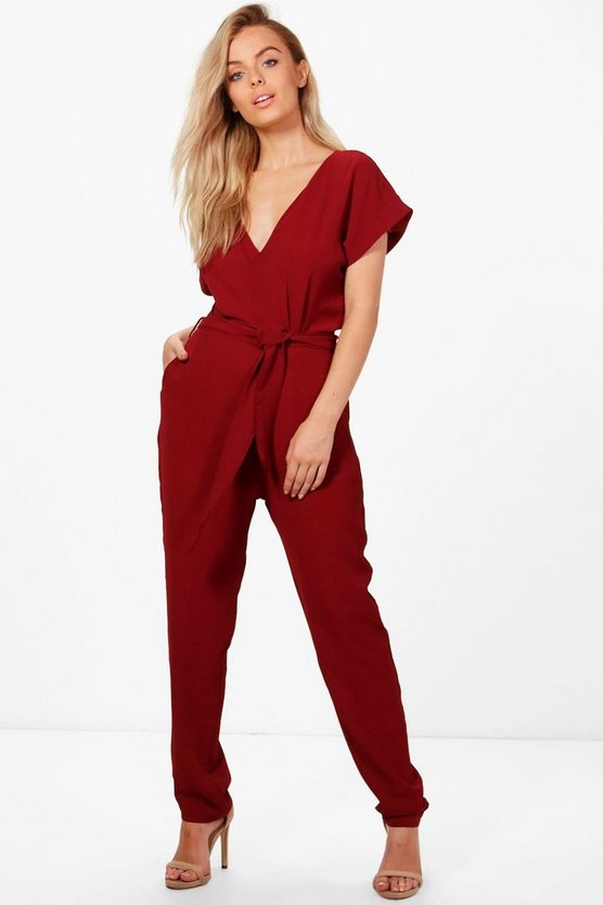 Louise Belted Jumpsuit