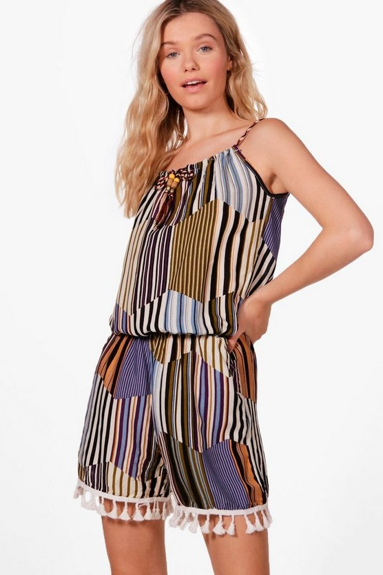 Sasha Stripe Playsuit