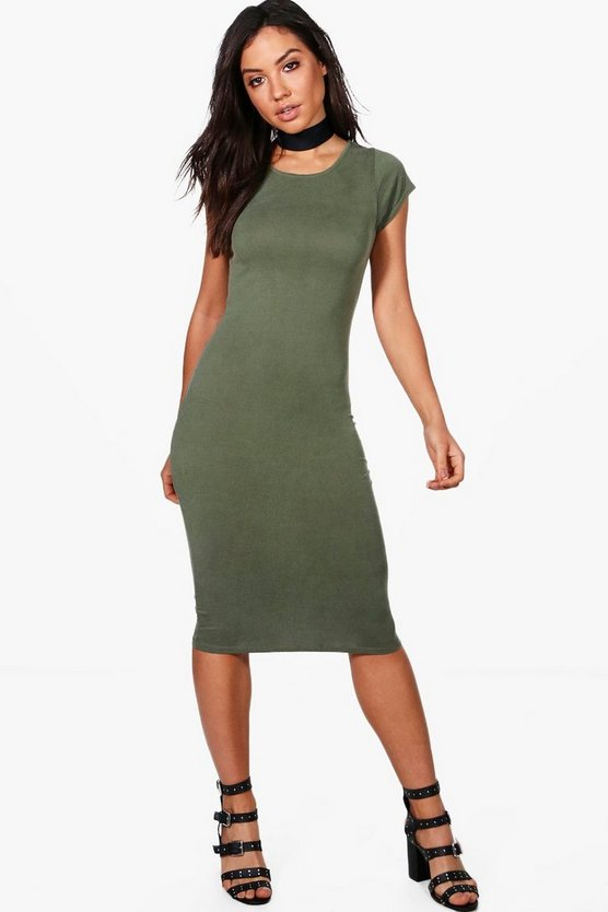 Lucie Cap Sleeve Midi Dress