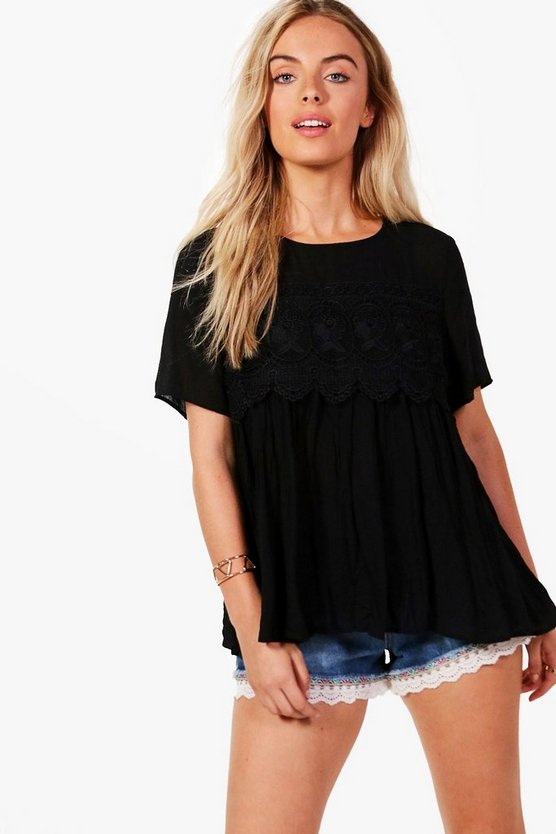 Eve Lace Trim Top