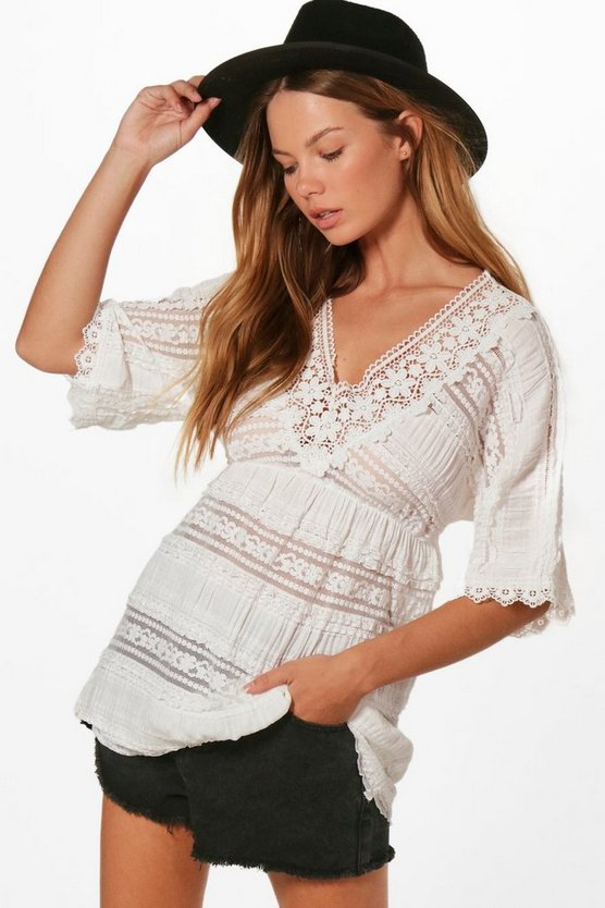 Imogen Lace Tiered Tunic