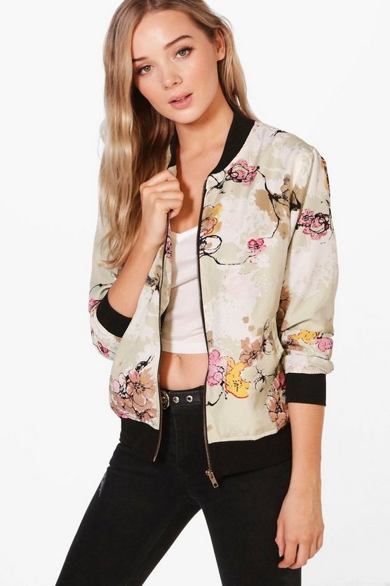 Vanessa Floral Print Bomber