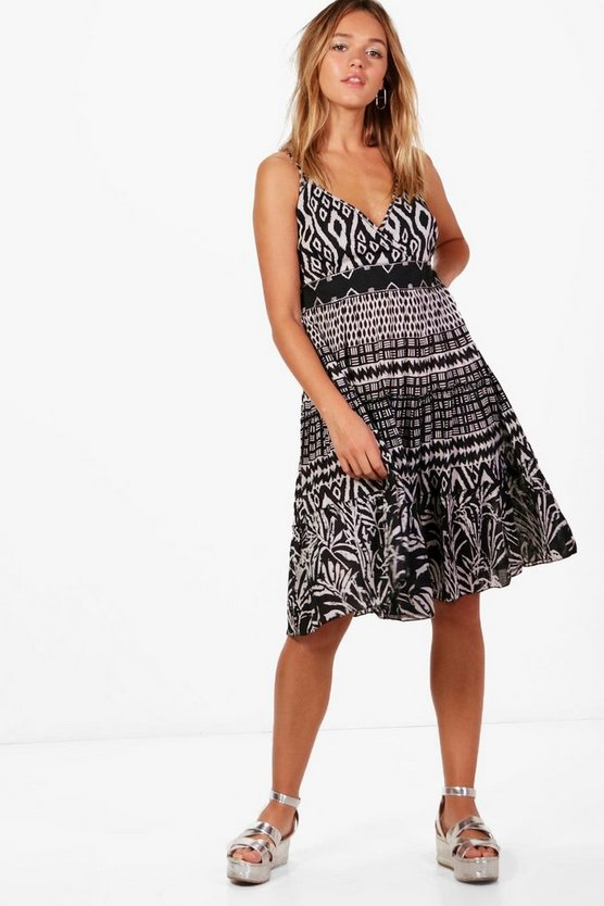 Holly Maxikleid mit Azteken-Print