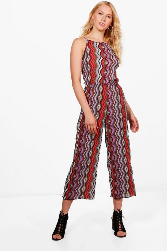 Holly Aztec Print Woven Jumpsuit