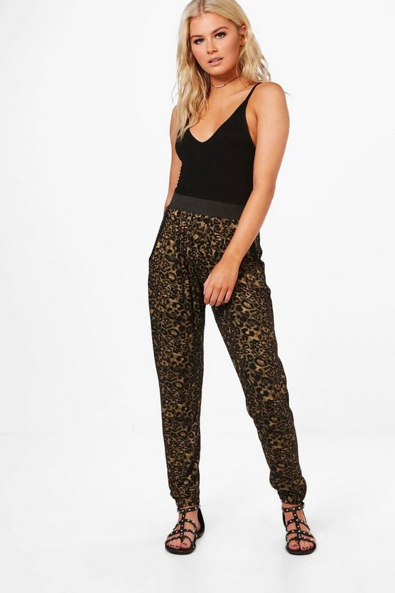 Ramona Leopard Print Relaxed Joggers
