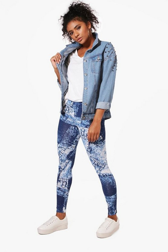 Cosima Denim Effect Leggings