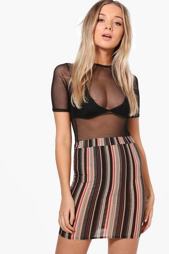 Edie Stripe Mini Skirt