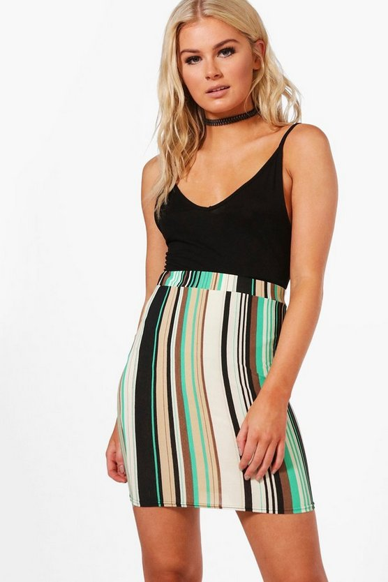 Jasmine Stripe Mini Skirt