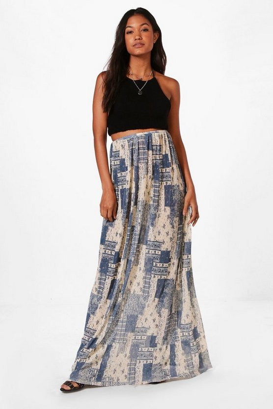 Belle Pleated Full Maxi Skirt