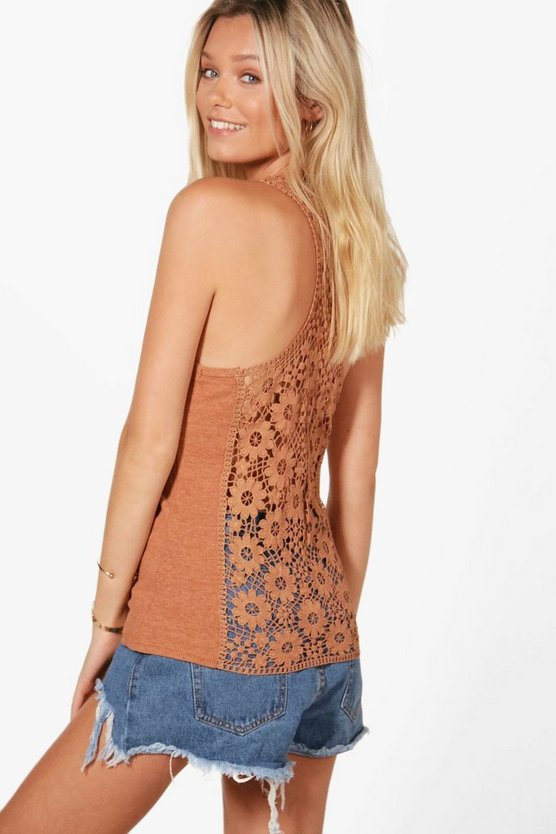 Laurie Lace Back Vest