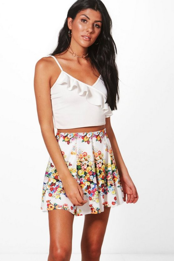 Aimee Floral Mini Skirt