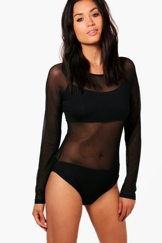 Jennifer Mesh Bodysuit