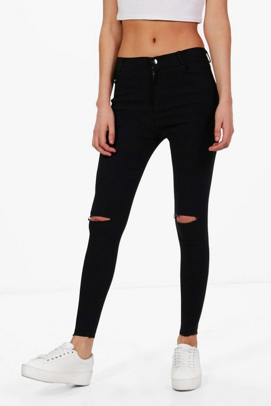 Fiona Slit Knee Legging