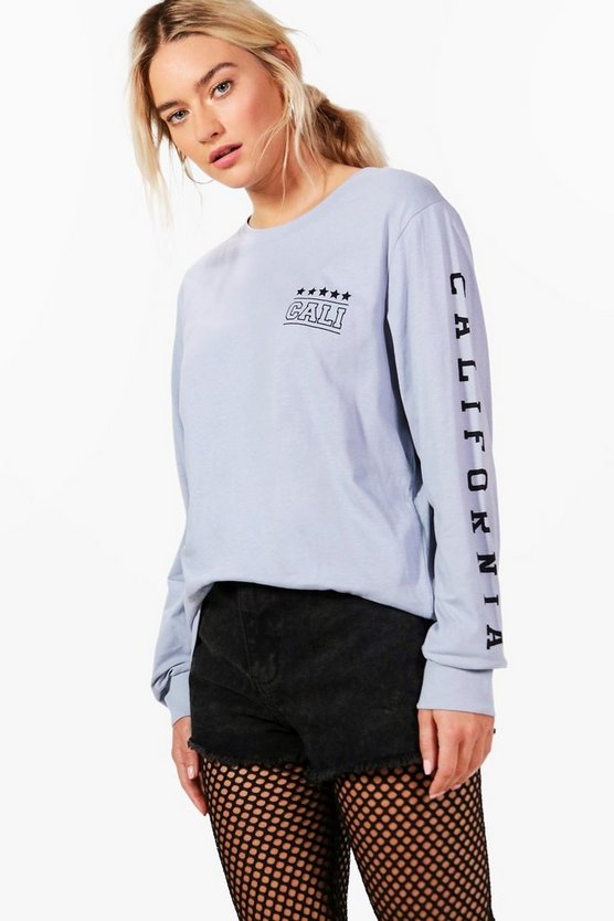 Eva Slogan Sleeve Sweat