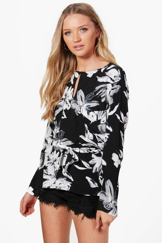 Maria Floral Belted Top