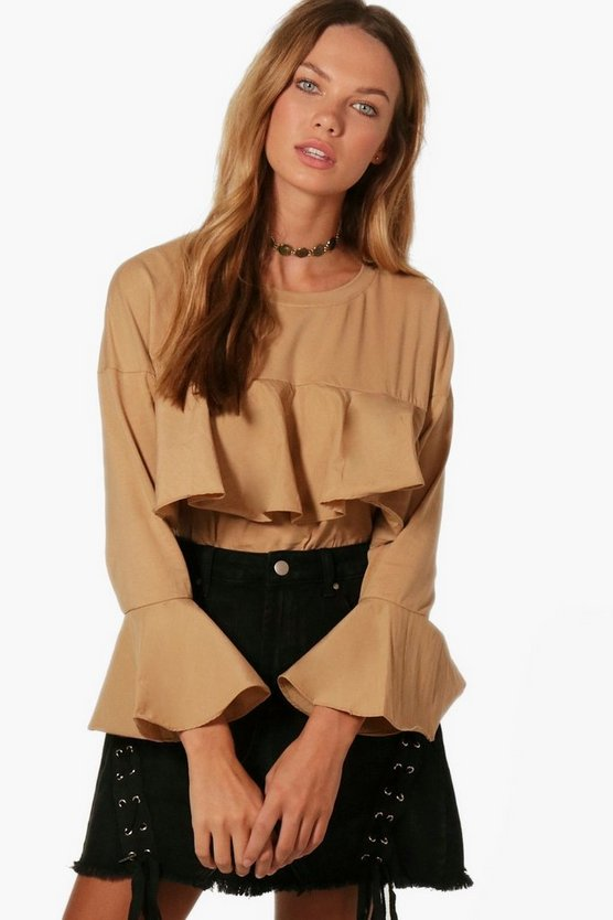 Felicity Frill Front Flare Sleeve Top