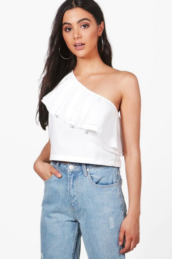 Lola One Shoulder Ruffle Top