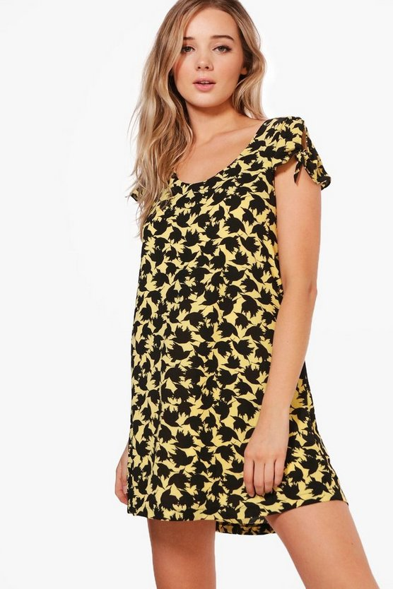 Izzy Bird Print Shift Dress