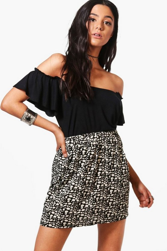 Shelly Spot Print Skirt