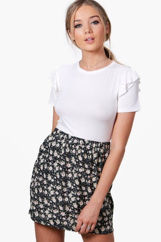 Elizabeth Floral Print Skirt With Pockets