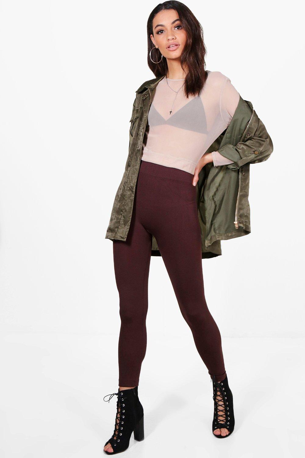 Adelisa Fleece Lined Leggings chocolate