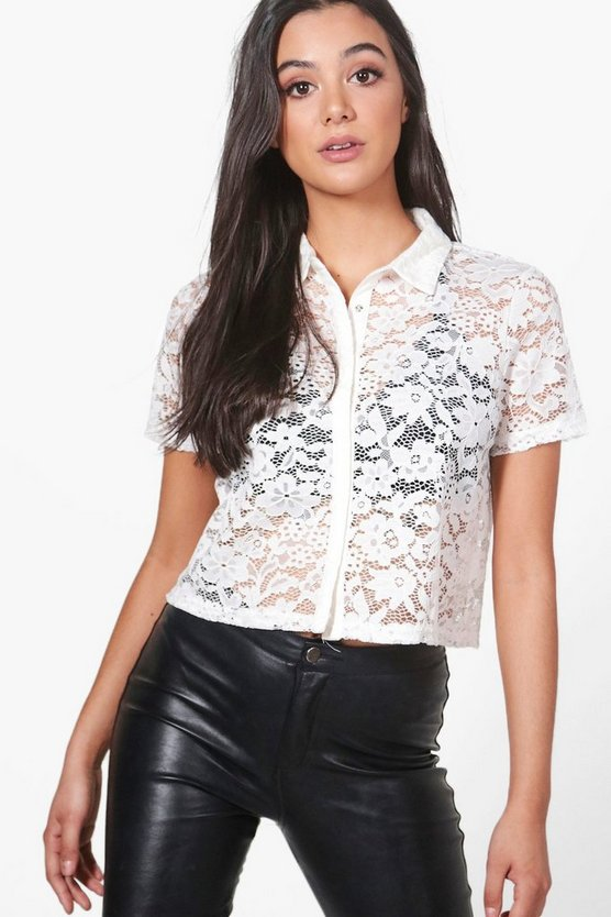 Lily Cropped Lace Shirt