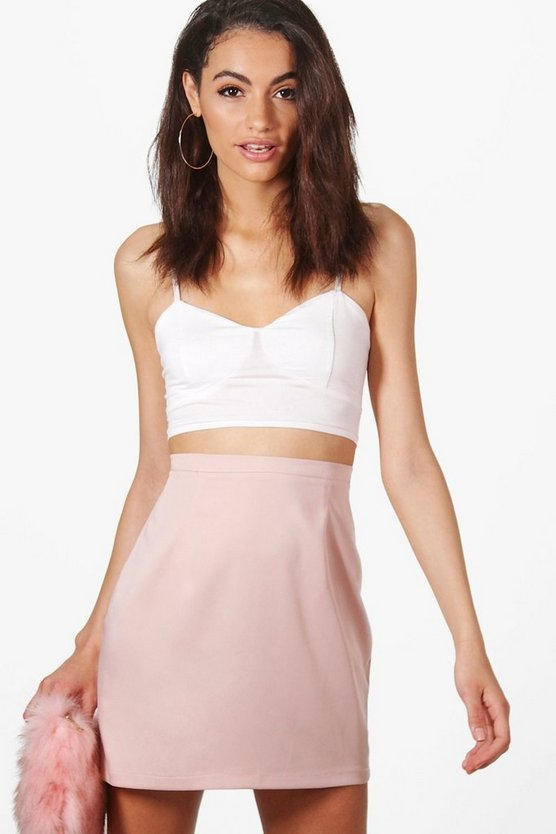 Pia Luxe Satin Mini Skirt