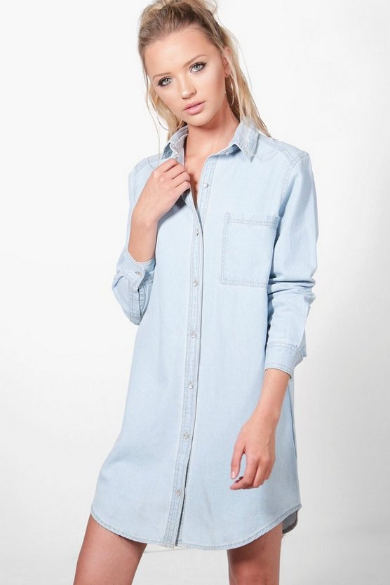 Lucy Longline Light Wash Denim Shirt