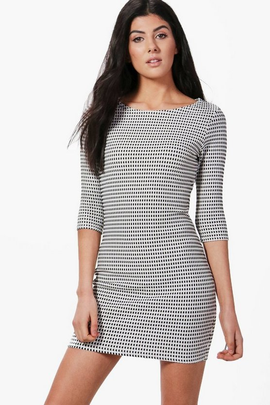 Charlotte Metallic Jacquard Bodycon Dress