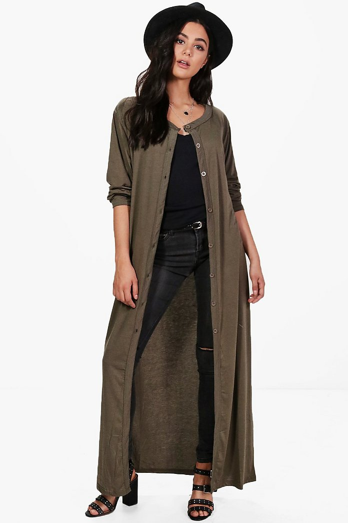 Natalie Maxi Button Front Cardigan