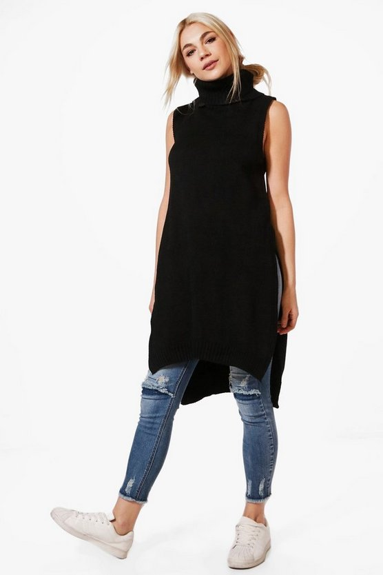 Rebecca Sleeveless Roll Neck Tunic